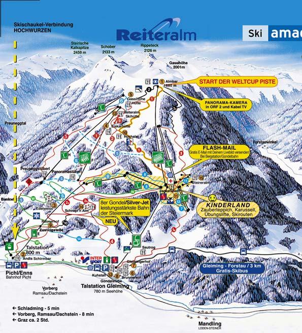 Reiteralm Bergbahnen - Ski amade