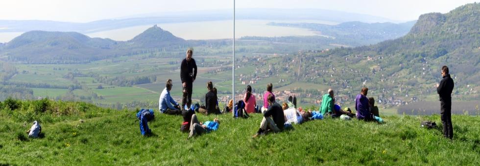 Fejedelmi panoráma - Csobánc vára és a kőtenger