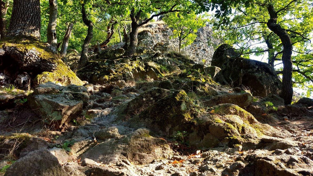 Visszanézve a sziklafalra, amin lejöttünk