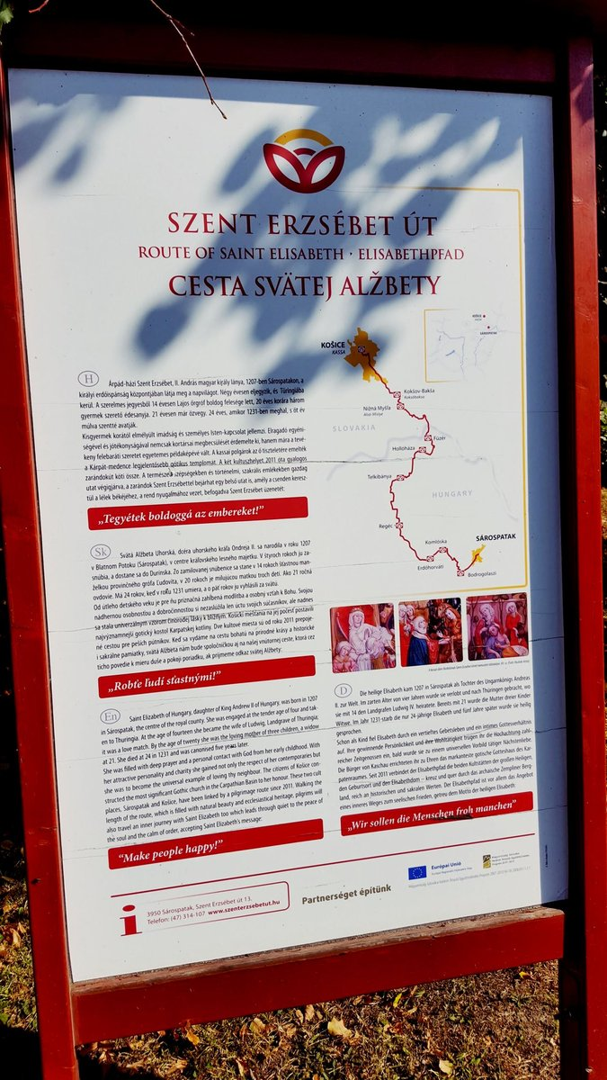 Szent Erzsébet út infó tábla
