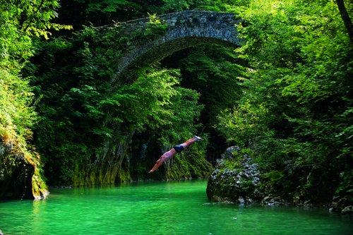 Nadiza folyó Kobaridnál