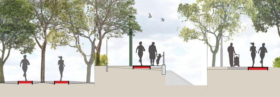 A margitszigeti futópálya tervei