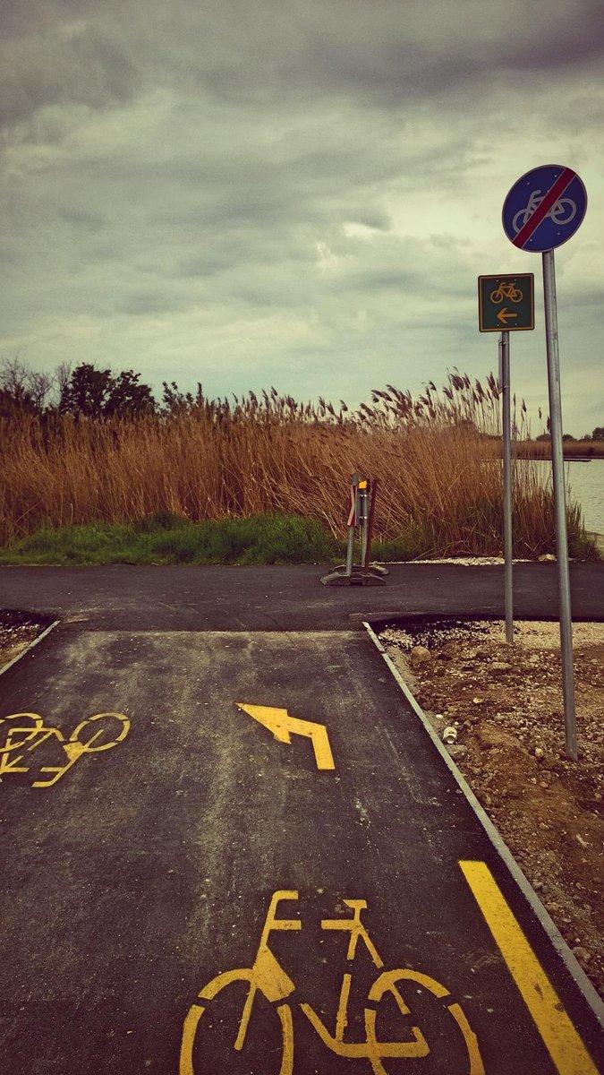Ahol vége a bringaútnak, ott kezdődik a kijelölt útvonal