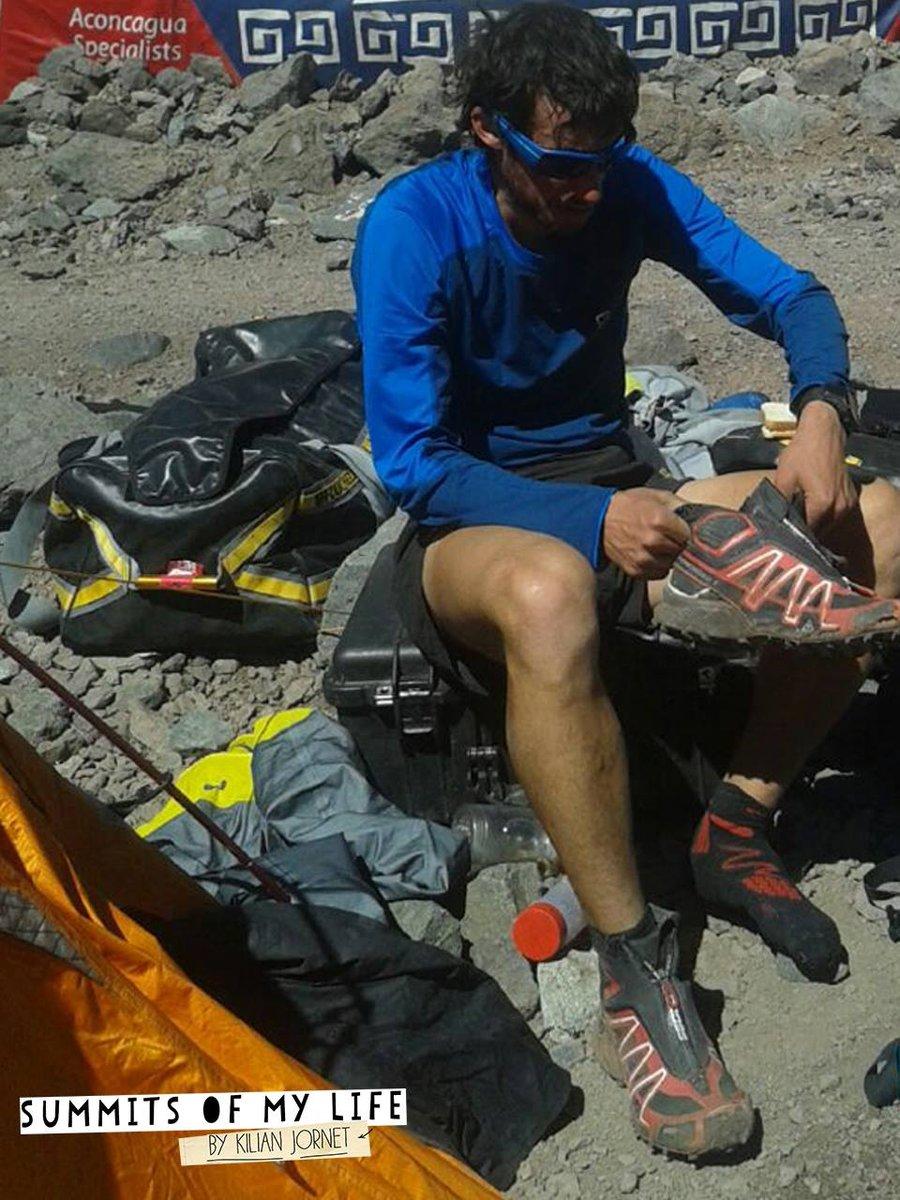 A rekordmászás közben, már a alaptáborban