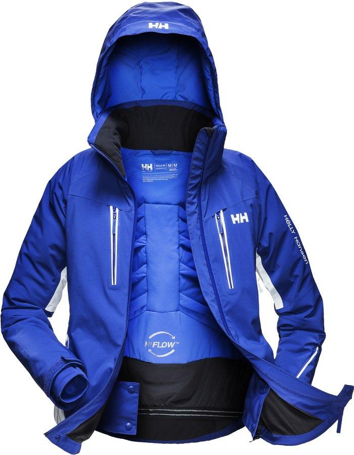Motion Strech női kabát, H2FLOW rendszerrel, amely a test hőjét légcsatornákba vezetve ad extra meleget, amikor pedig hűsre vágyunk, egy szellőzővel szélnek ereszthetjük a meleg, párás levegőt