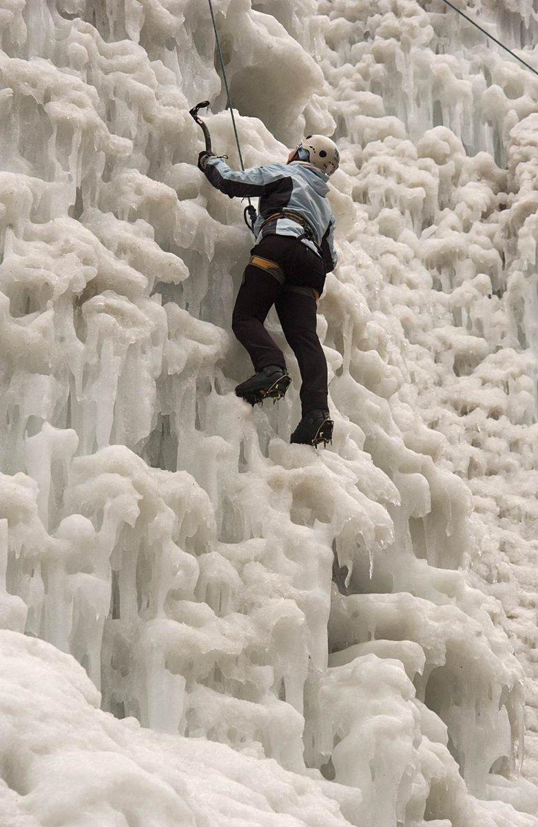 A Mlačca szurdok jégfalát mesterségesen állítják elő