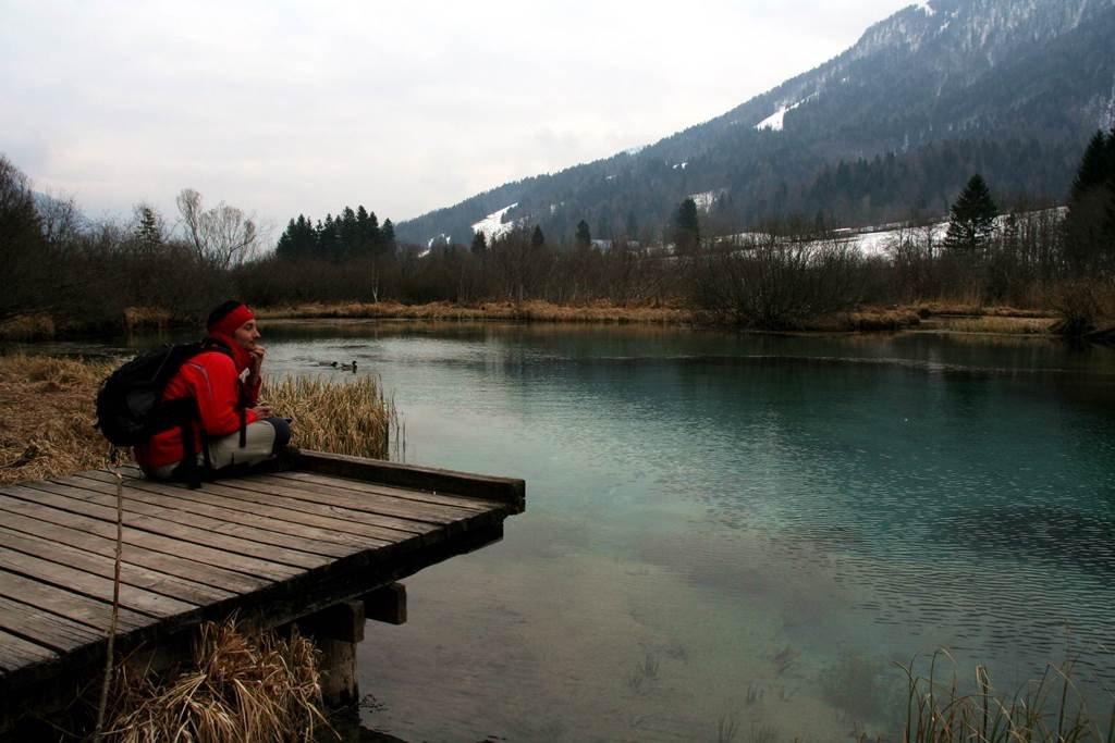 Zelenci tó, a Sava Dolinka folyó forrása