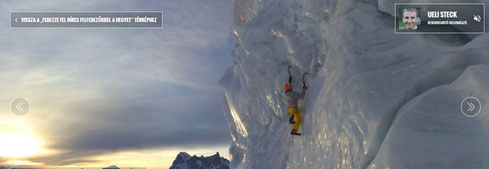 A Mont Blanc is ott van a Google Street View-n