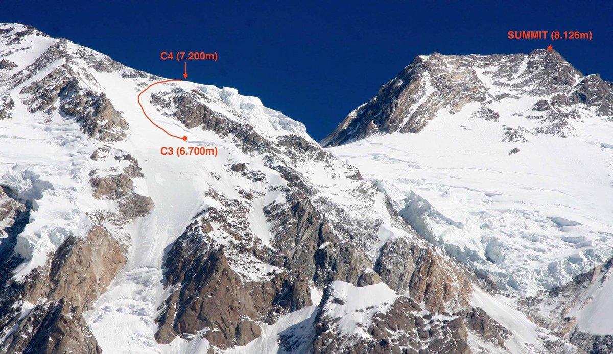 A felső táborok és a csúcs