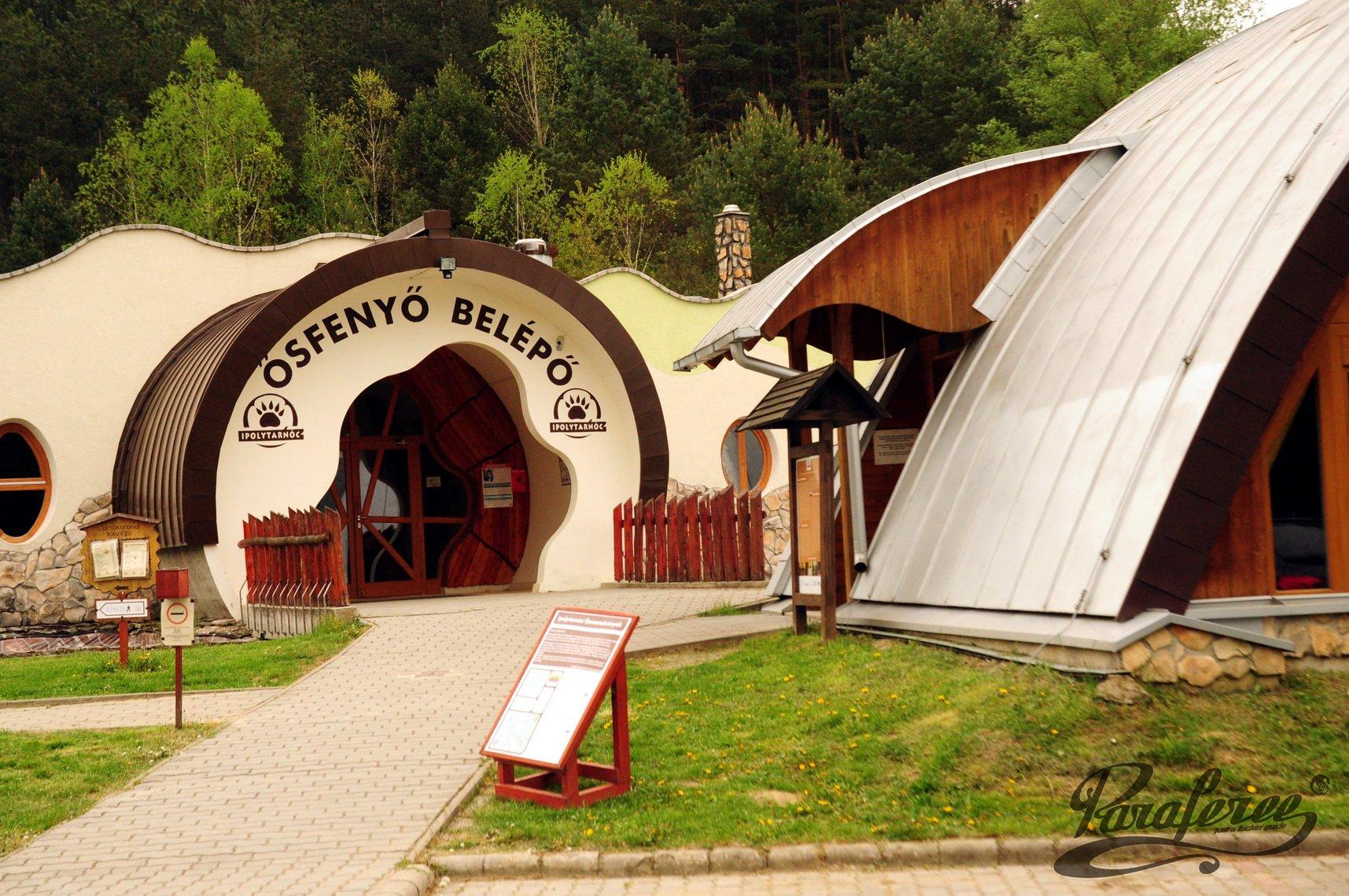 Az ipolytarnóci Geopark fogadóépülete