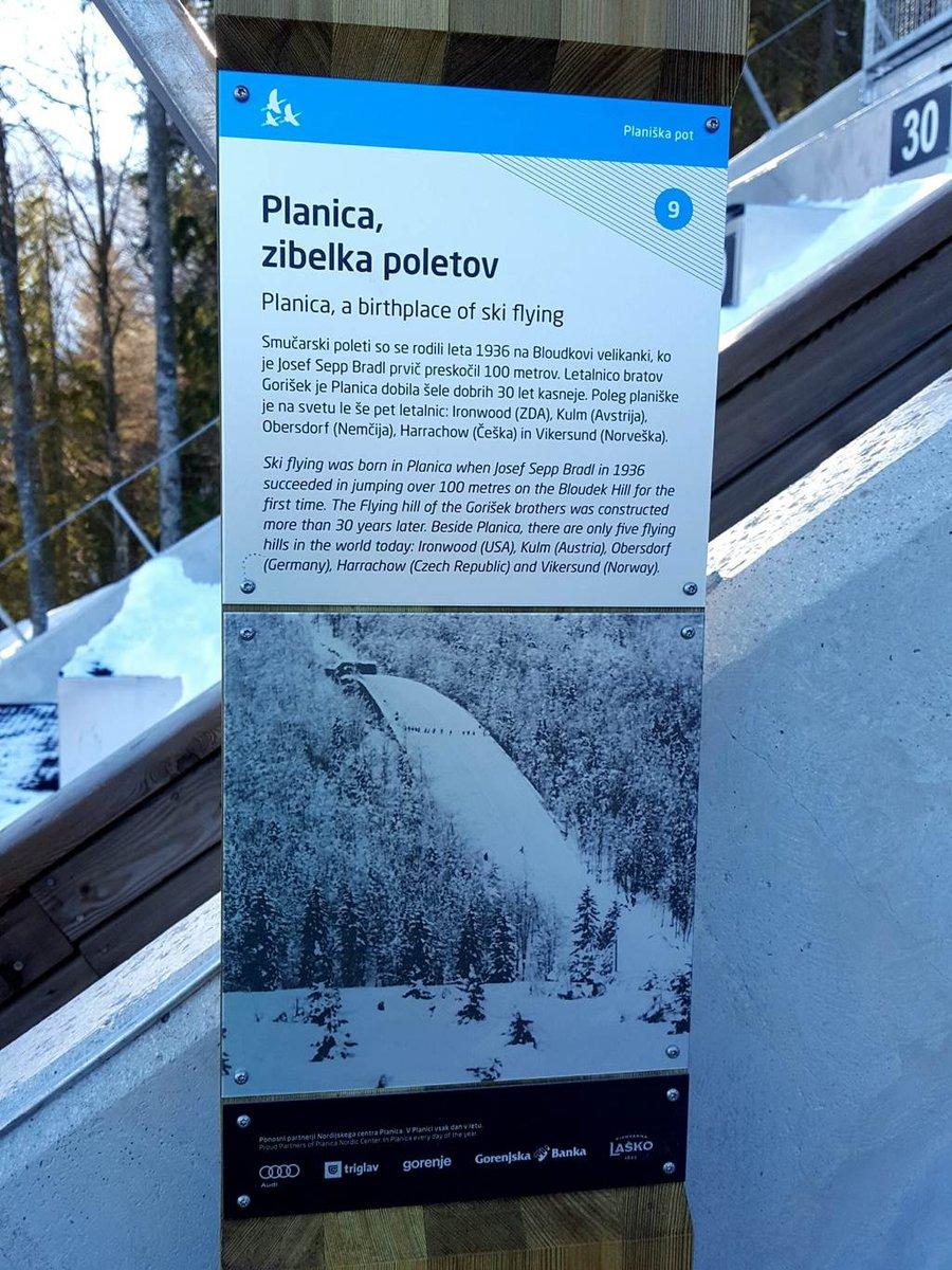 A Planica síugró sánc története