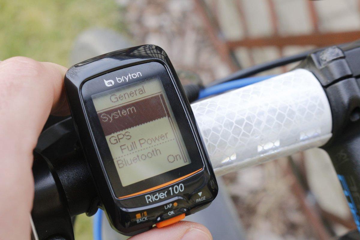 Bryton Rider 100 kommunikáció