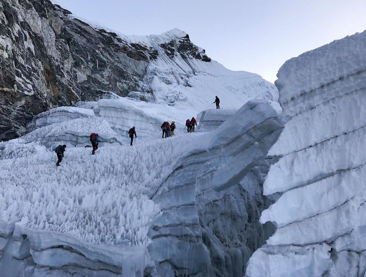 Mászás az Island Peak gleccserén