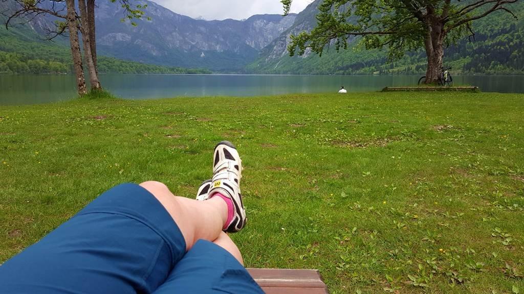 Kis pihenő a Bohinji-tónál