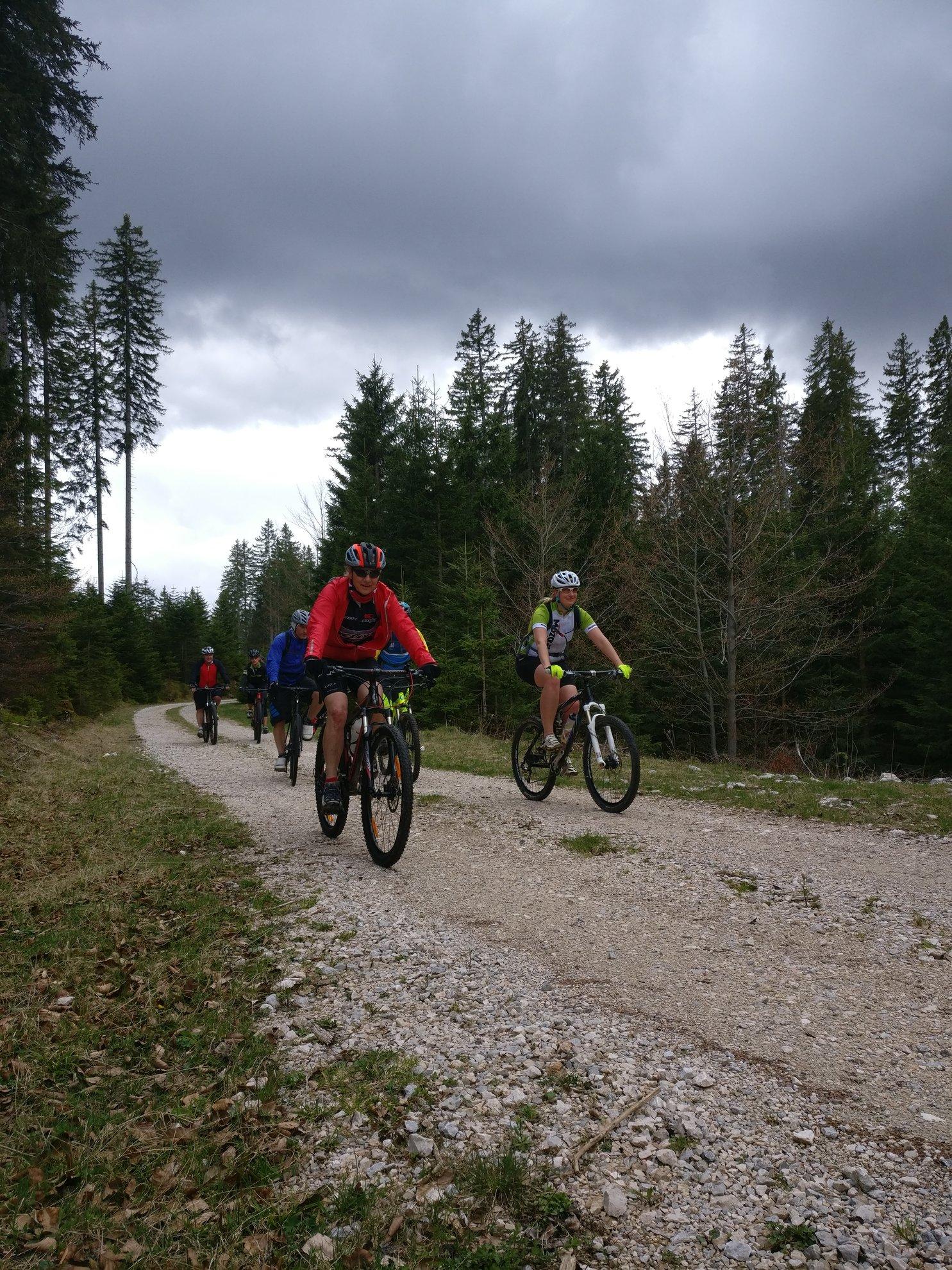 A Bled Bike Festival mountainbike verseny nyomvonalának bemutatásán