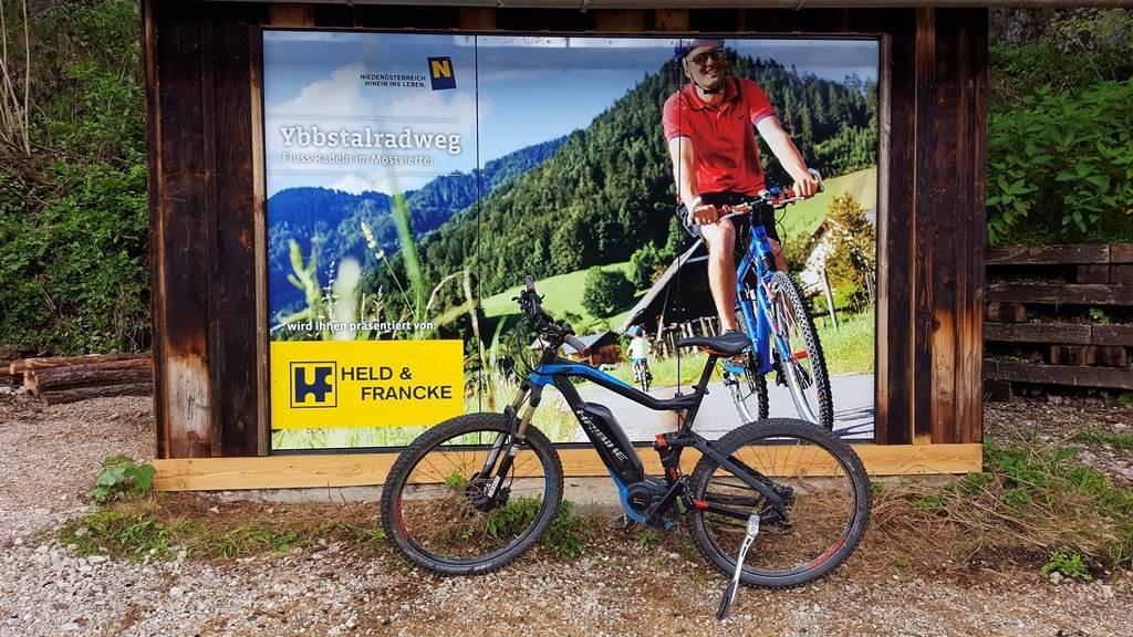 Ybbstal-kerékpárút fotón és élőben :)