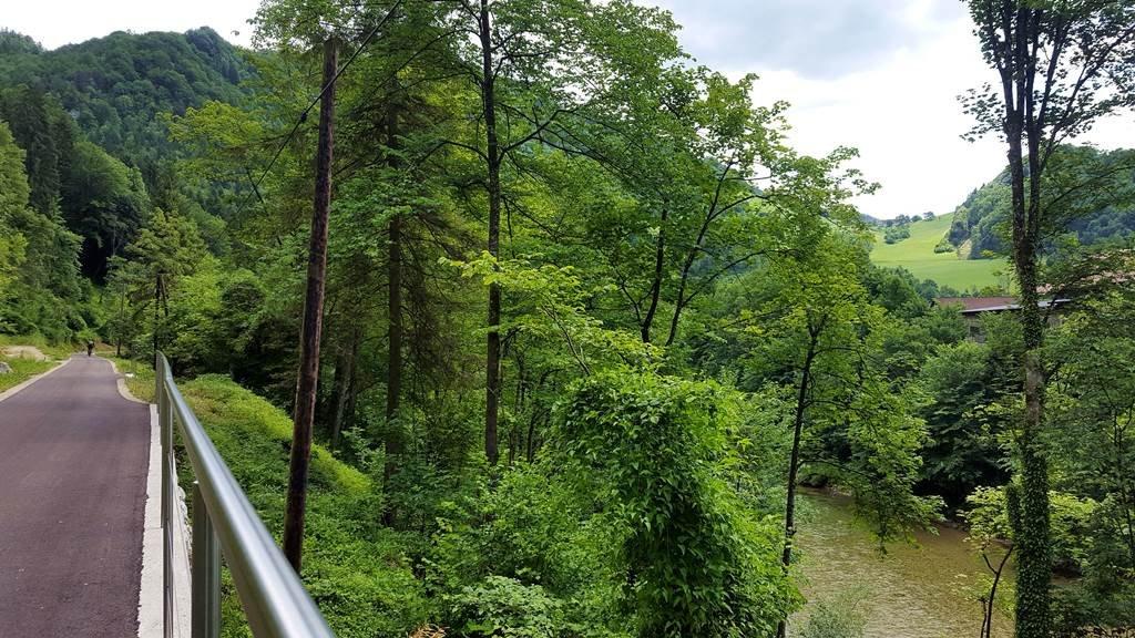 Waidhofen előtt magasról szemlélhetjük a folyót