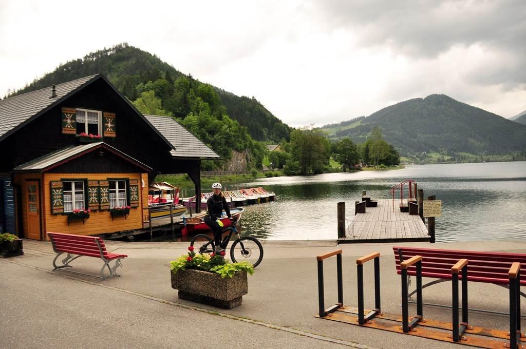A kerékpártúra kiinduló pontja: Lunzer See Lunz am See-ben