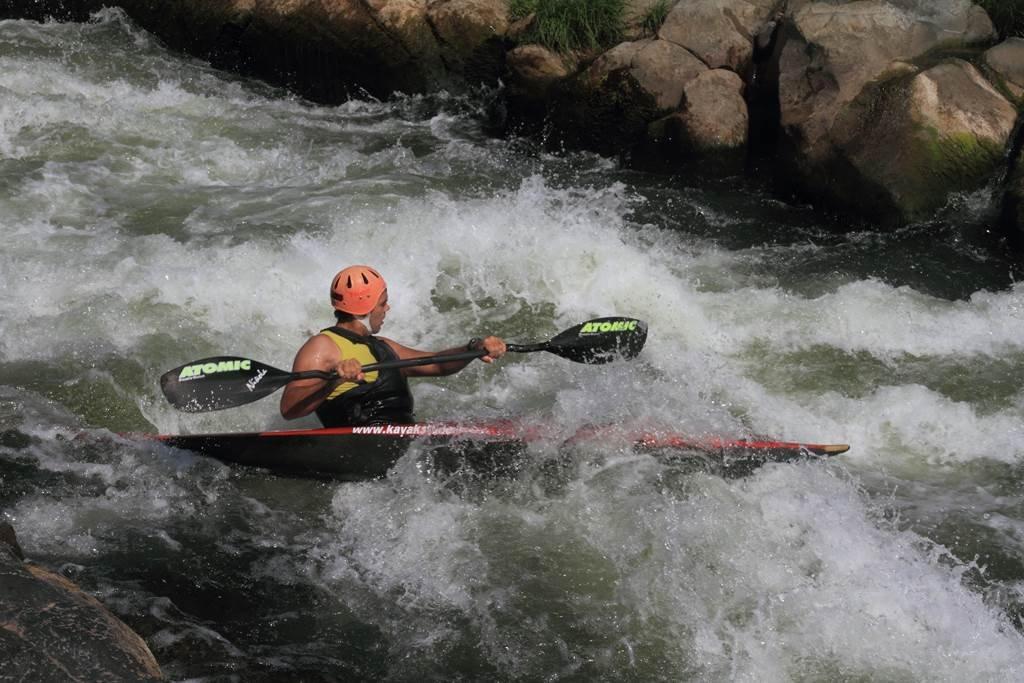 Kajakozás az Ibar folyón