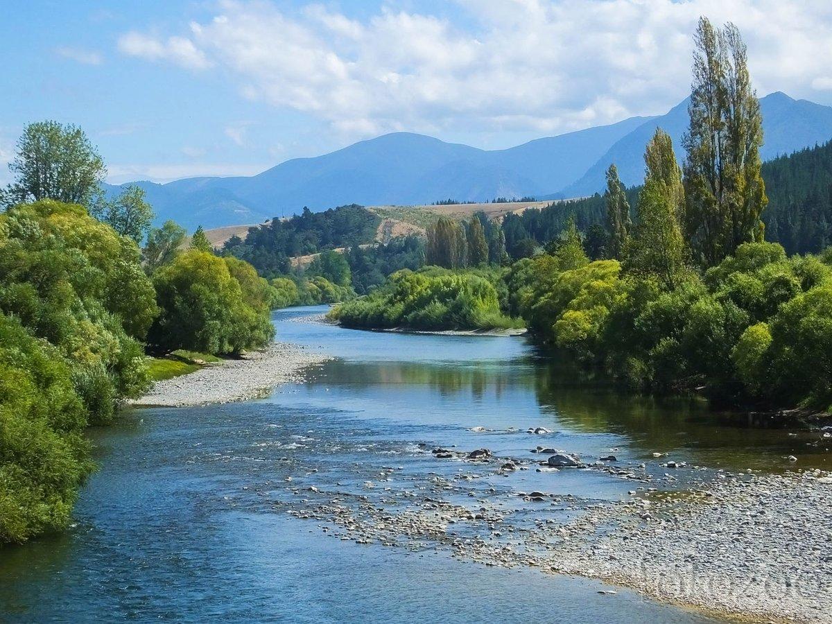 Motueka River, pontosabban a Kristályfolyó.