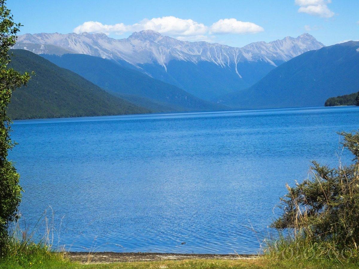 Rotoroa-tó. A Nelson tavak nagyobbika.