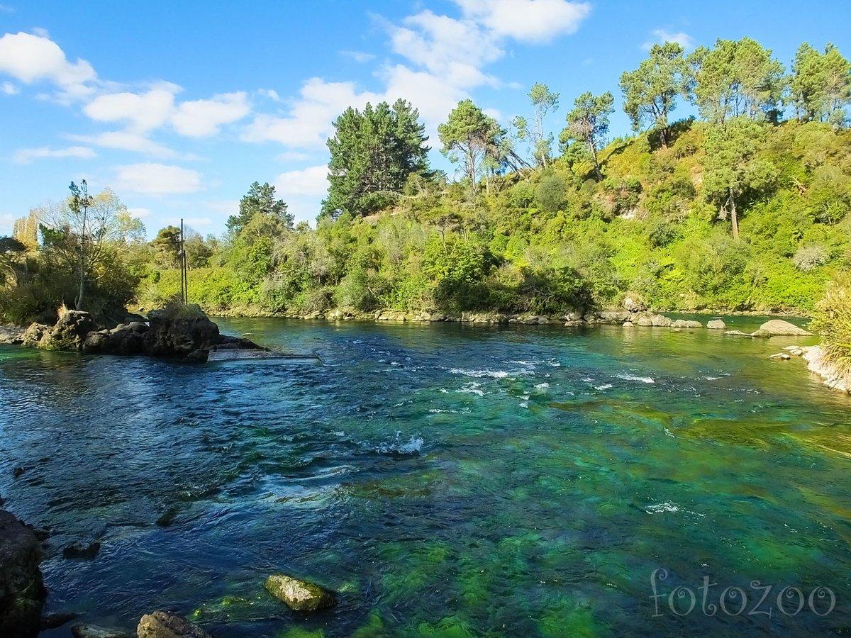 Ingyenes kempingünkből ilyen kilátás nyílik a Waikato folyóra.