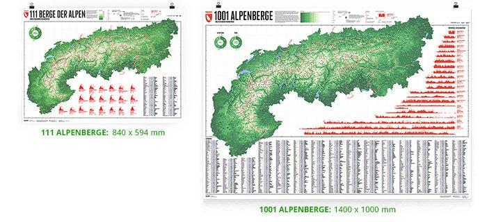 Az egyes térképek méretei