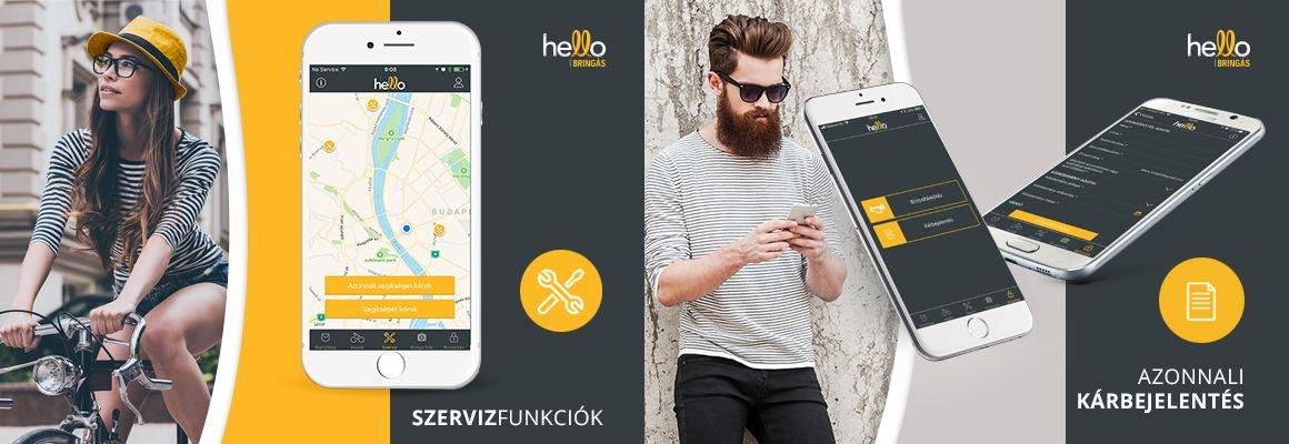 Élvezd a tekerést a hello app-al!