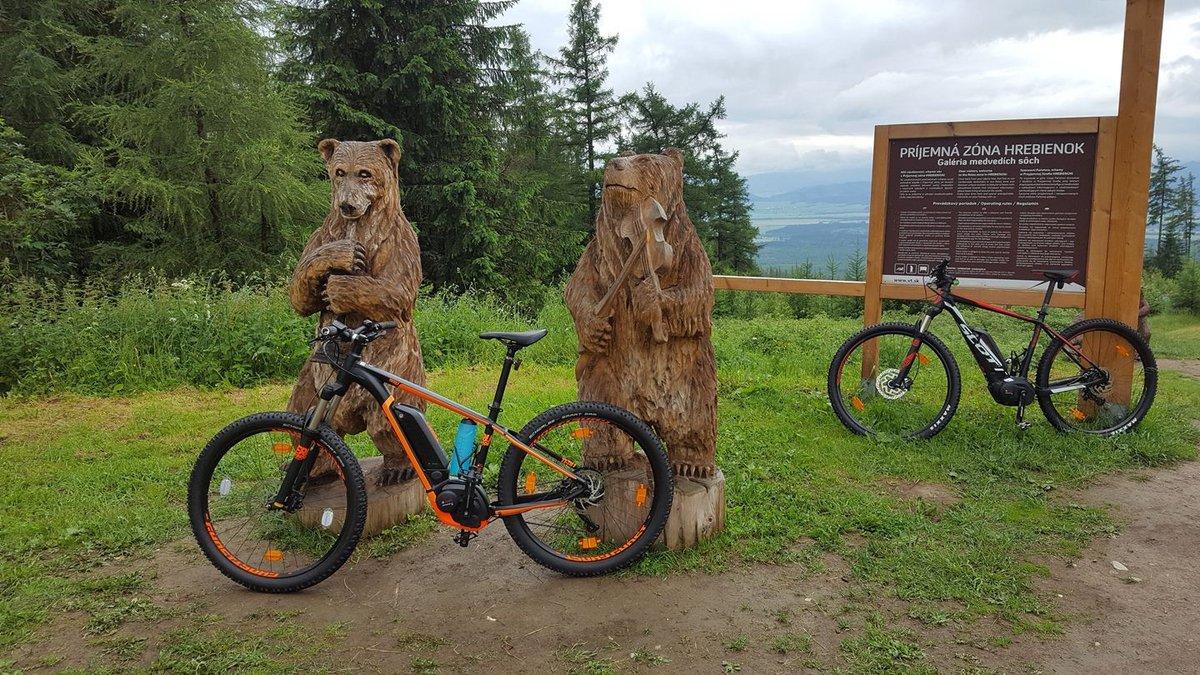 Szerencsére csak faragott fa medvékkel találkoztunk! :)