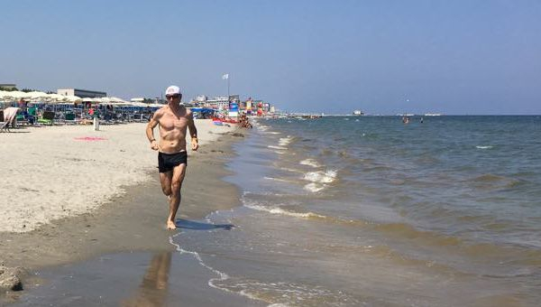 Beach futás