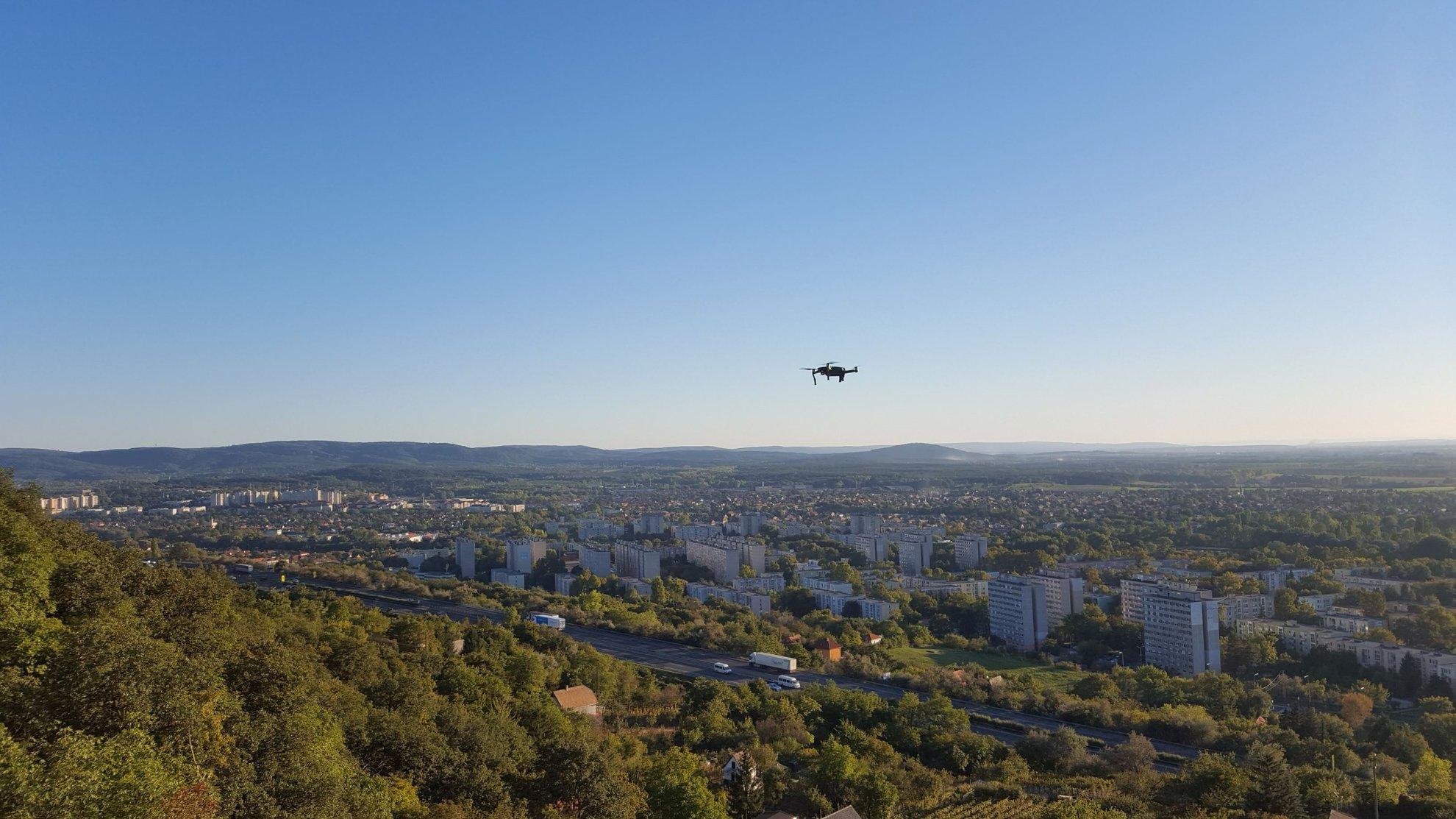 Drónfelvétel készül az Öt vezér via ferrátáról
