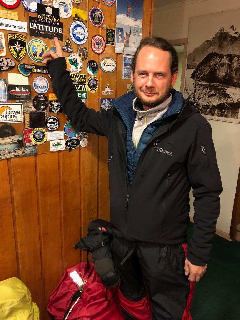 Rakonczay Gábor a szállodában Punta Arenasban, Chilében