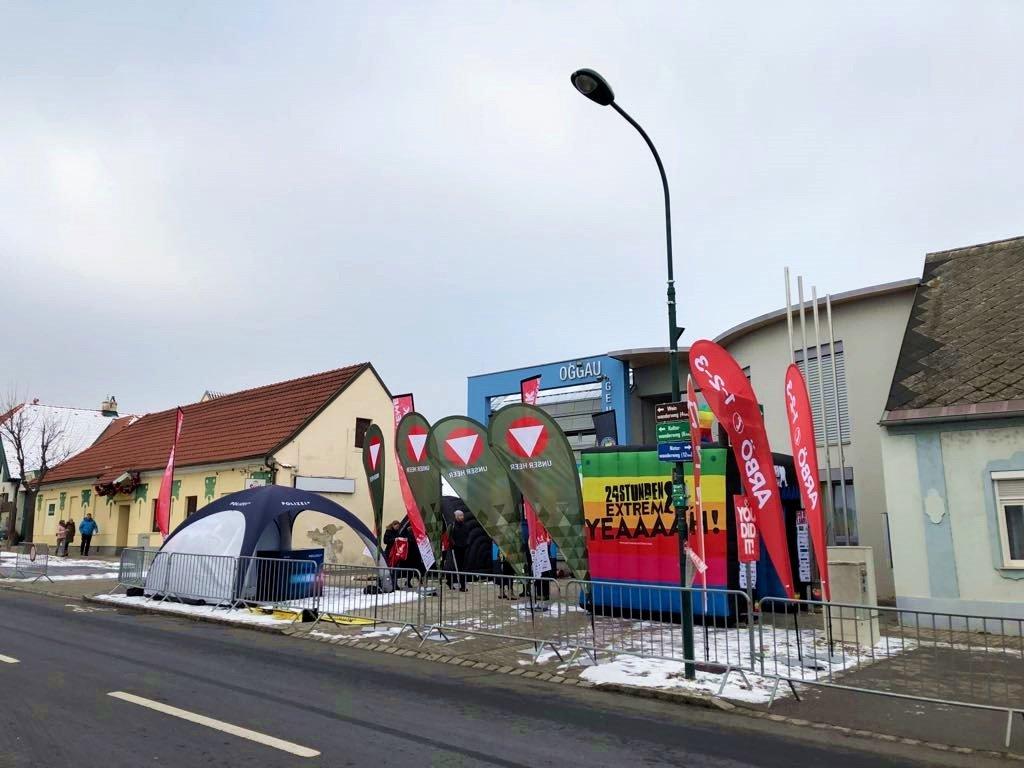 A rendezvényközpont helyszíne Oggauban