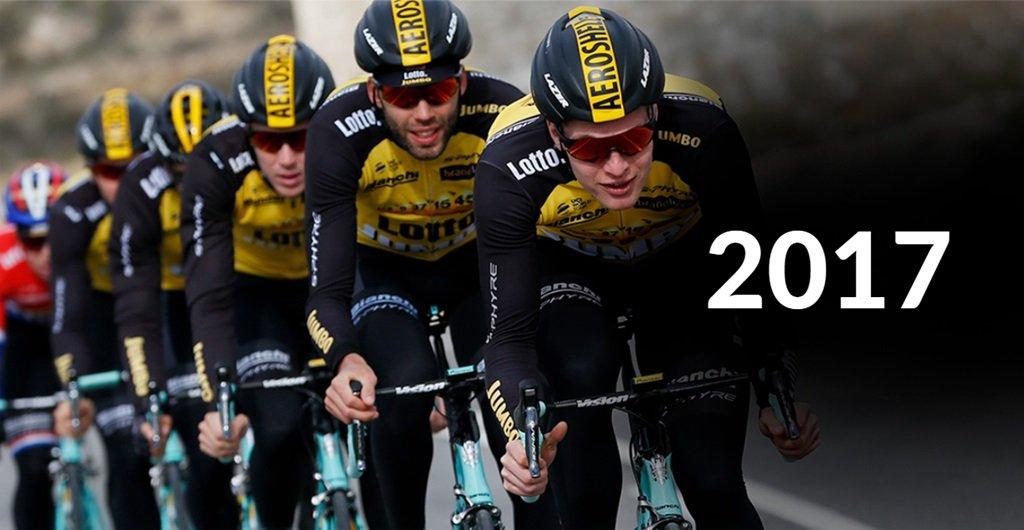 2017-től a Lazer a UCI WorldTour Team Lotto-JumboNL hivatalos sisak beszállítója