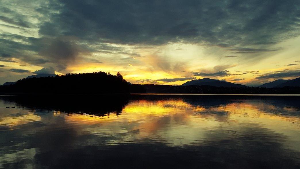 Faaki-tó naplementében