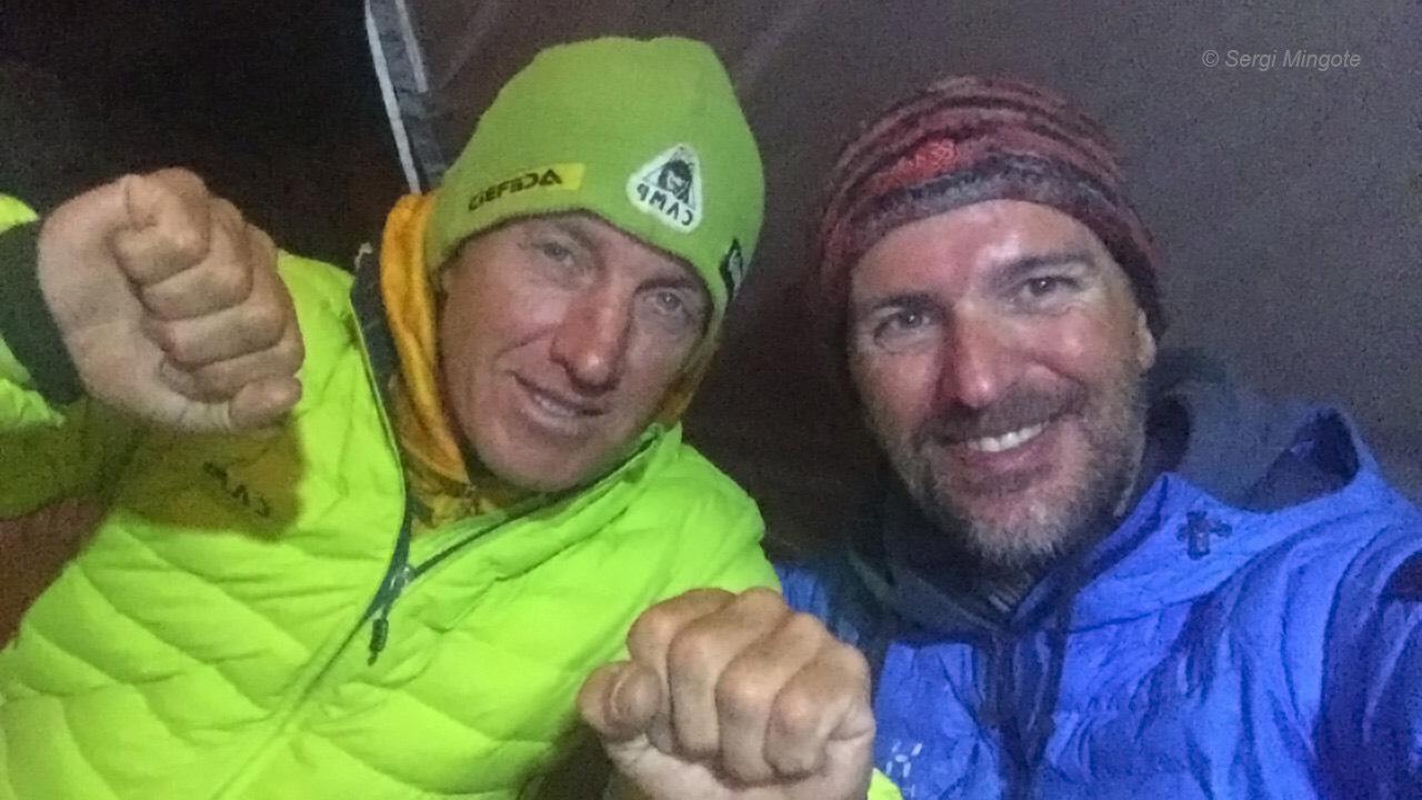 Denis a katalán Sergi Mingotével is lehozott egy tüdőgyulladásban szenvedő mászót