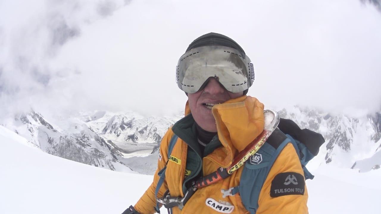 Denis Urubko szelfi a Gasherbrum II-n