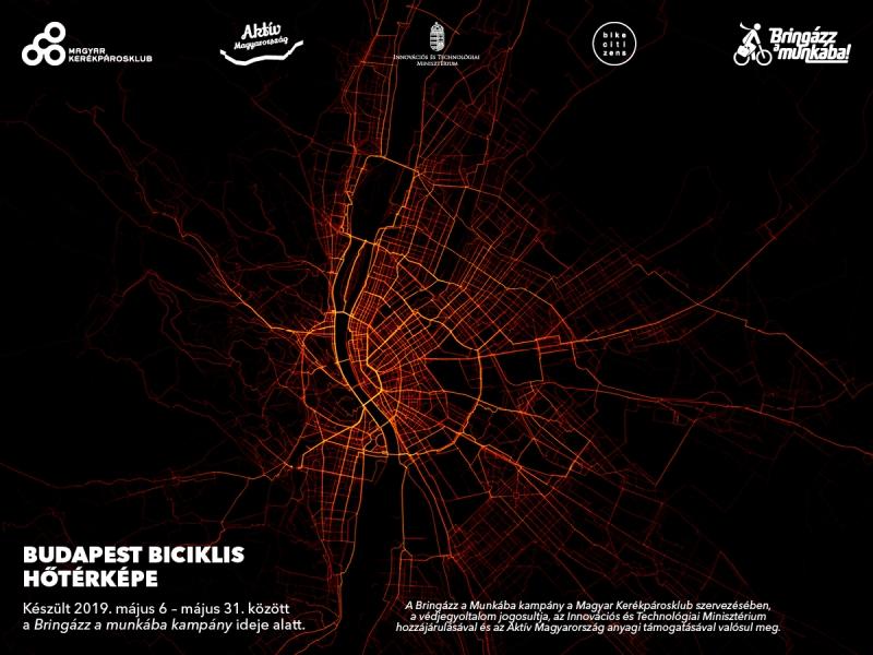 Látványos hőtérképek 5 város biciklis útvonalairól