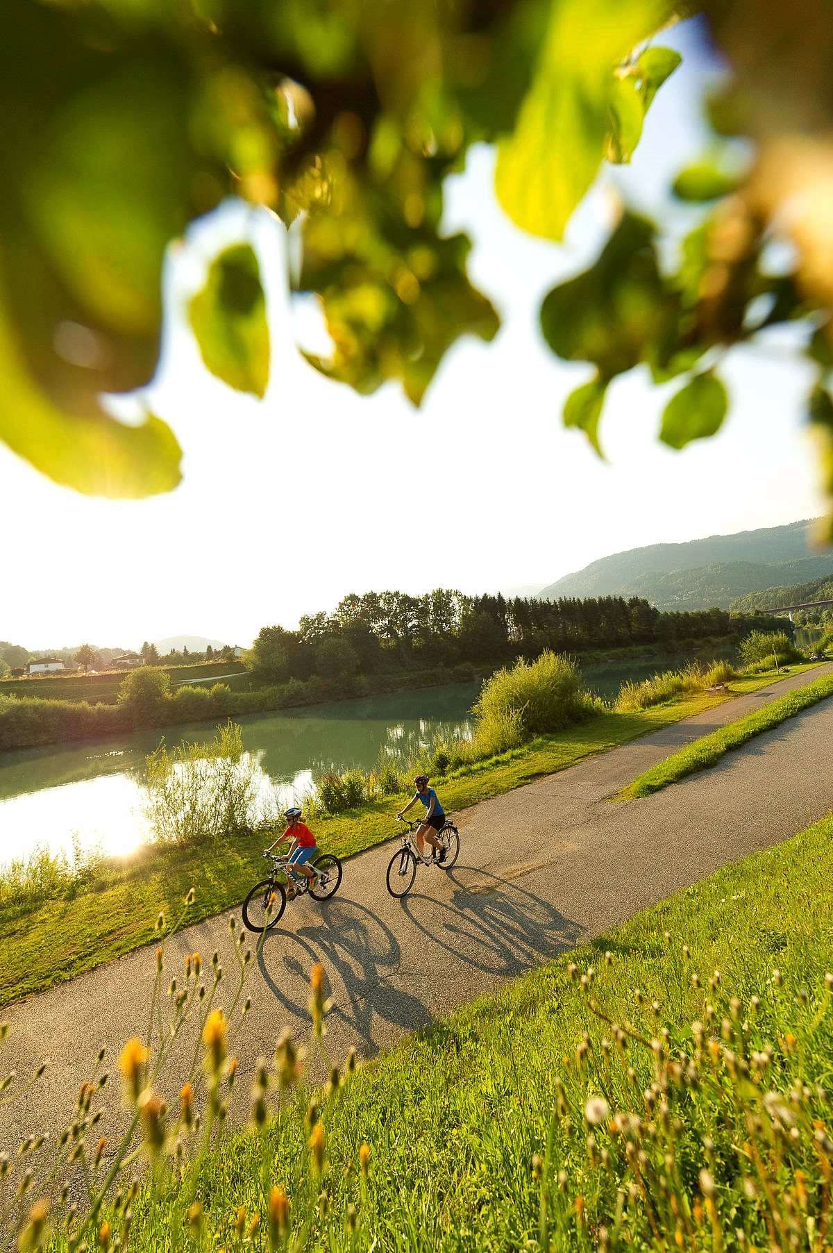 Nagy karintiai tókerülő túra hetedik szakasz: Dráva kerékpárút Villach