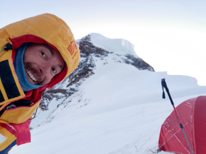 Szilárd 4-es tábora a csúcstámadás előtt, 7800 méteren