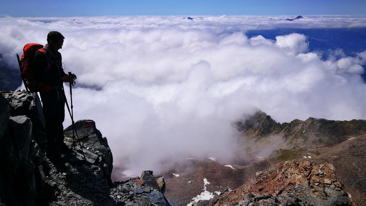 Rakonczay Gábor a felhőtenger felett
