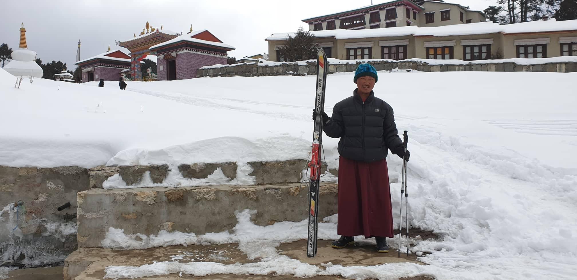 A szerzetesek is alkalmazkodnak a téli viszonyokhoz