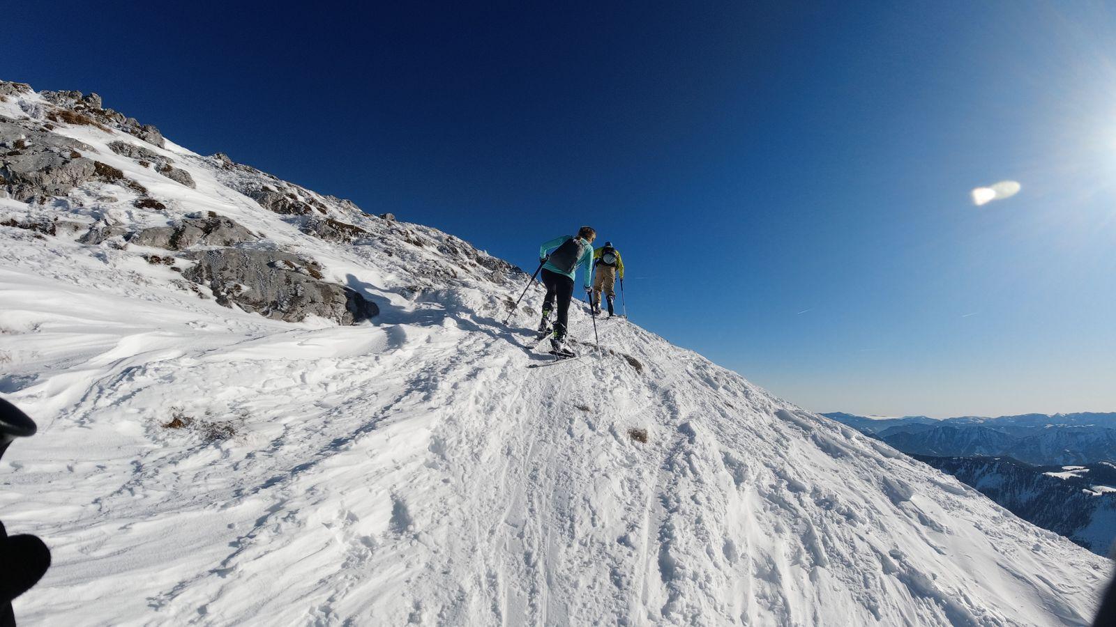 Izgalmasabb szakasz a hegygerinc mentén - Ötscher sítúra