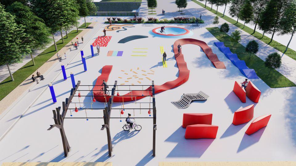 Motorikus képességeket fejlesztő kerékpáros park épül Bécsben-2