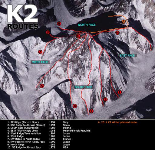 K2 útvonalak