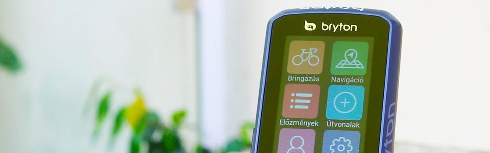 Érintőképernyős, színes térképes, kerékpáros navigáció - Bryton Rider 860 teszt