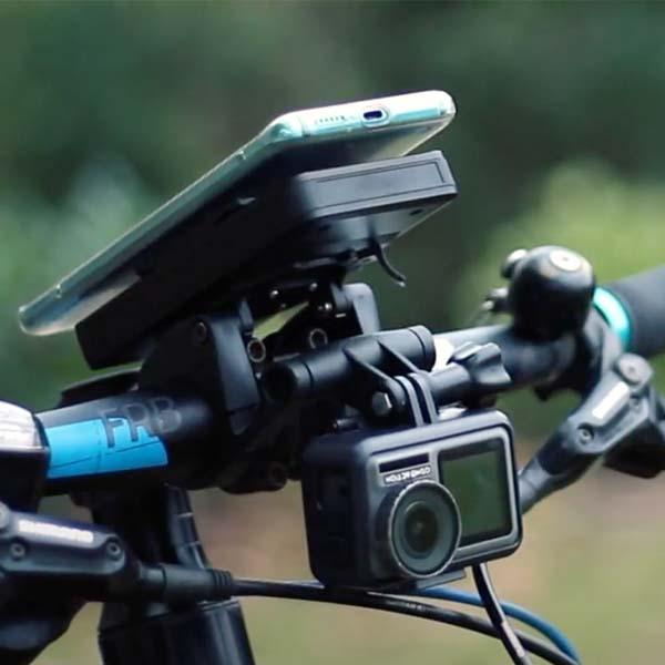Kerékpáros telefontartó NFC-vel és vezeték nélküli töltővel (powerbank): SKS Compit