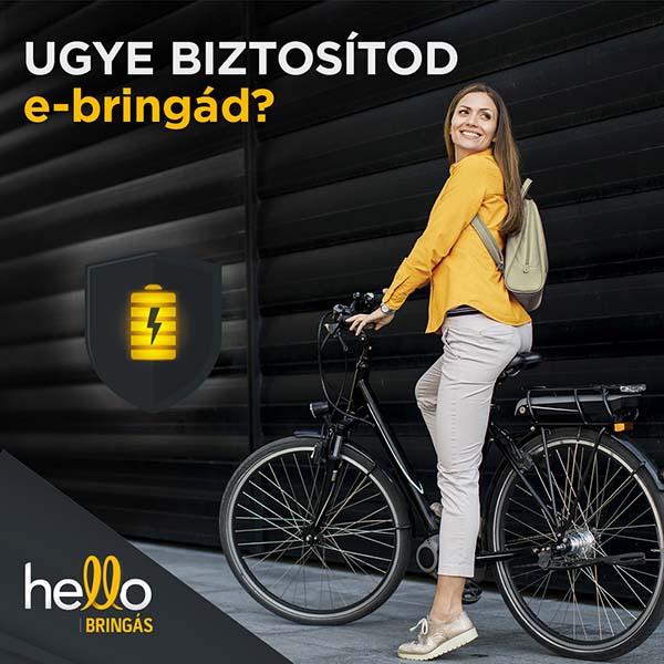 Már elektromos kerékpárokra is köthető biztosítás!
