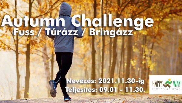 Autumn Challenge online challenge fuss - túrázz - bringázz