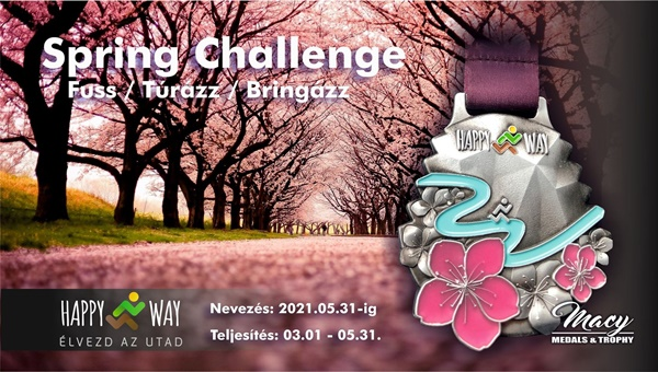 Spring Challenge - fuss - túrázz - bringázz